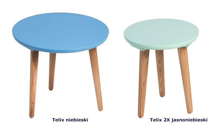 Skandynawskie stoliki kawowe Telix - niebieskie