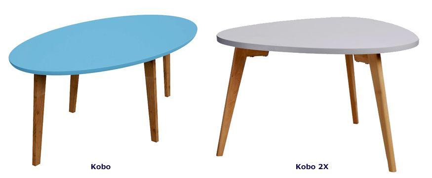 Designerskie stoliki kawowe Kobo - skandynawskie