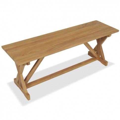 Zdjęcie produktu Ławka ogrodowa z drewna tekowego Agida.