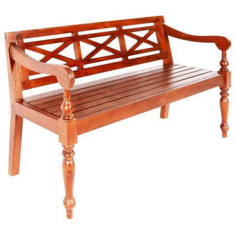 Zdjęcie produktu Ogrodowa ławka Dima - ciemnobrązowa.