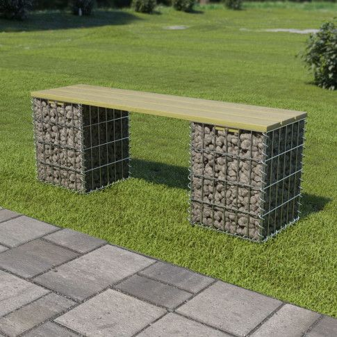 Zdjęcie produktu Ławka ogrodowa Picanta - gabionowa.