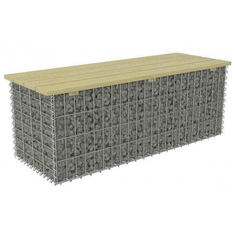 Zdjęcie produktu Gabionowa ławka ogrodowa - Fragina 120 cm.