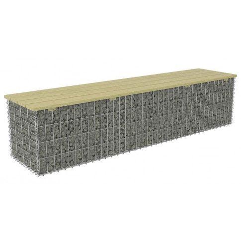 Zdjęcie produktu Gabionowa ławka ogrodowa - Fragina 180 cm.