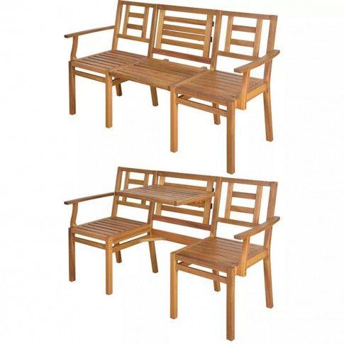 Zdjęcie produktu Rozkładana ławka Amika - drewno akacjowe.