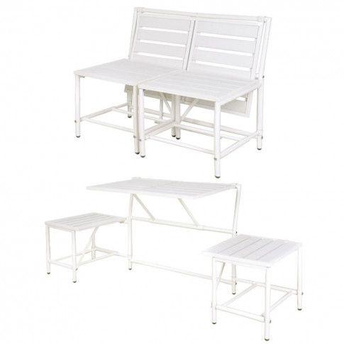 Zdjęcie produktu Esschert Design Magiczna ławka ogrodowa, biała, BL064.