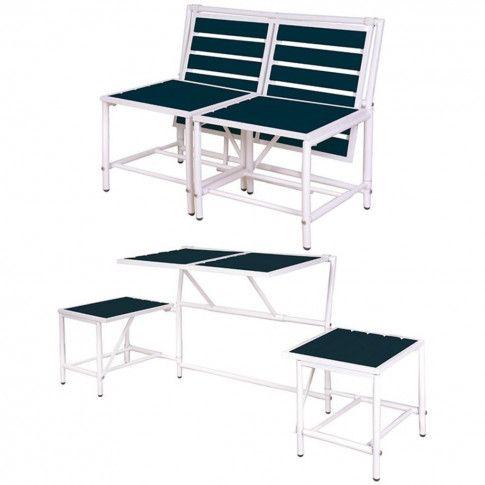 Zdjęcie produktu Esschert Design Magiczna ławka ogrodowa, niebieska, BL067.
