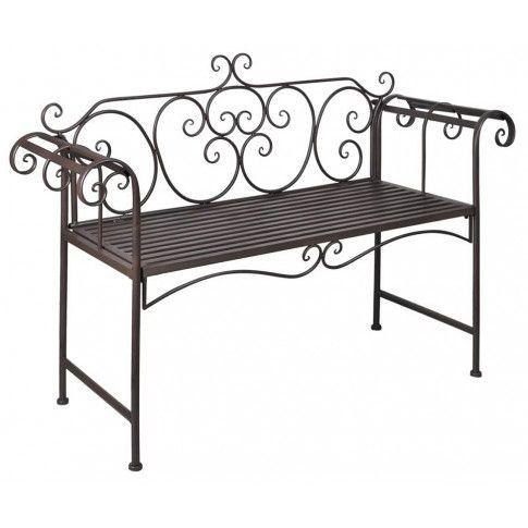 Zdjęcie produktu Metalowa ławka ogrodowa Konta - brązowa.