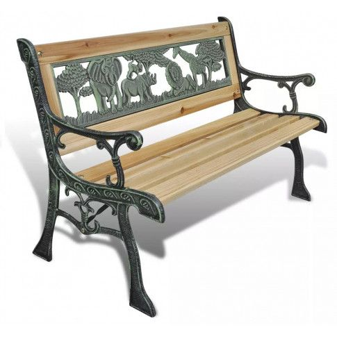 Zdjęcie produktu Drewniana ławka ogrodowa dla dzieci Ponter - brązowa.