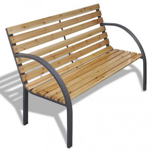Zdjęcie produktu Drewniana ławka ogrodowa Gasper - brązowa.