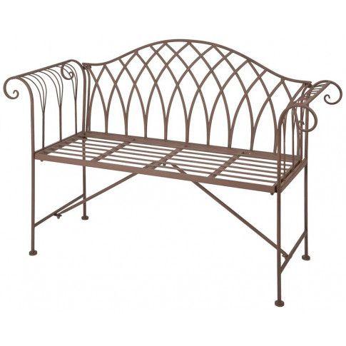 Zdjęcie produktu Metalowa ławka ogrodowa Foner - brązowa.