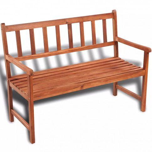 Zdjęcie produktu Drewniana ławka ogrodowa Dean - brązowa.