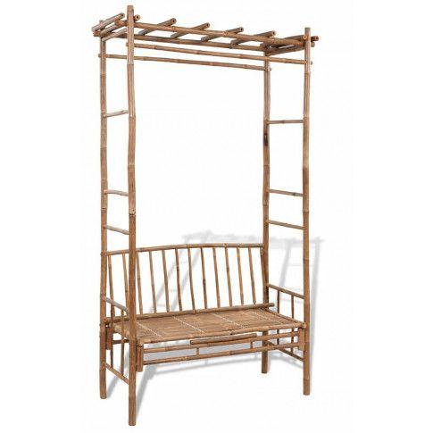Zdjęcie produktu Drewniana ławka ogrodowa Zenta - brązowa.