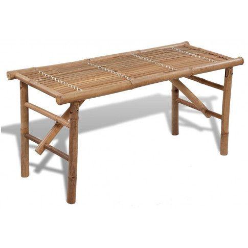 Zdjęcie produktu Drewniana ławka ogrodowa Alora - brązowa.