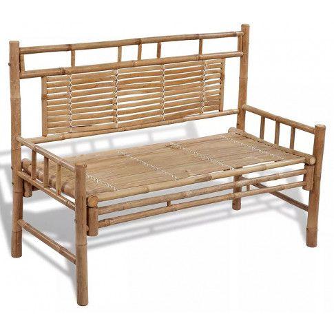 Zdjęcie produktu Drewniana ławka ogrodowa Calmer - brązowa.