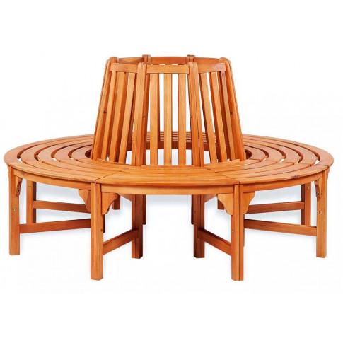 Drewniana ławka pod drzewo Alaina