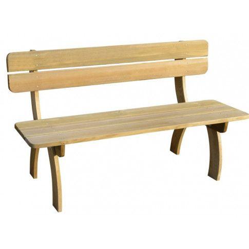 Zdjęcie produktu Drewniana ławka ogrodowa Abder - brązowa.
