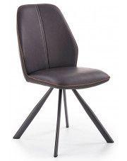 Krzesło nowoczesne Hektor - czarne