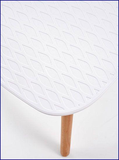Białe krzesło skandynawskie do jadalni Allan