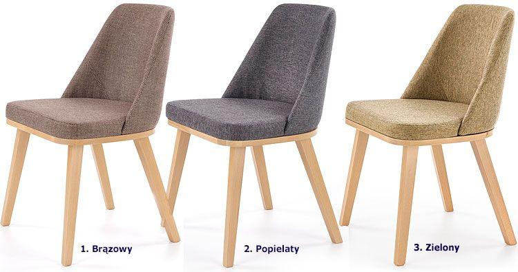 Drewniane krzesło tapicerowane do kuchni, salonu Master
