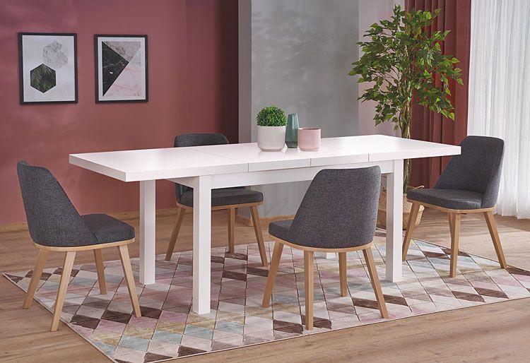 Szare krzesło tapicerowane do jadalni, salonu Master