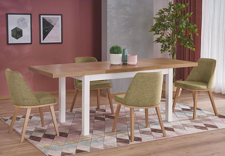 Zielone drewniane krzesło do jadalni Master