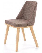 Krzesło drewniane Master - brązowe