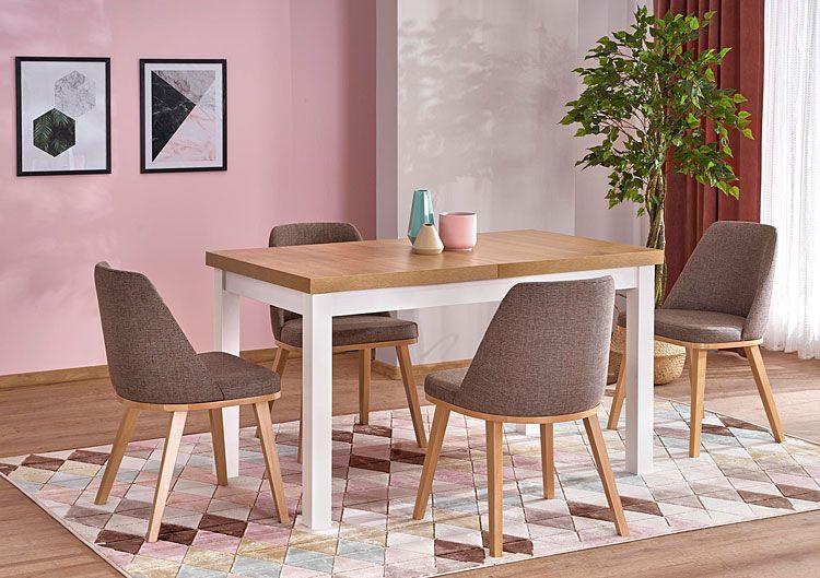 Brązowe drewniane krzesło kuchenne Master