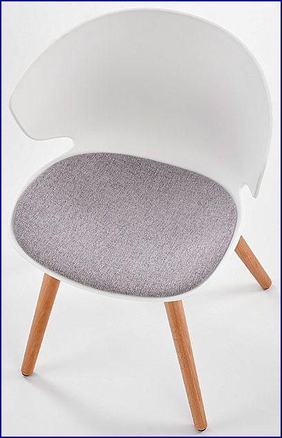Białe krzesło do kuchni, jadalni, salonu Kris