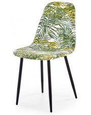 Krzesło z printem Marti - liście palmy