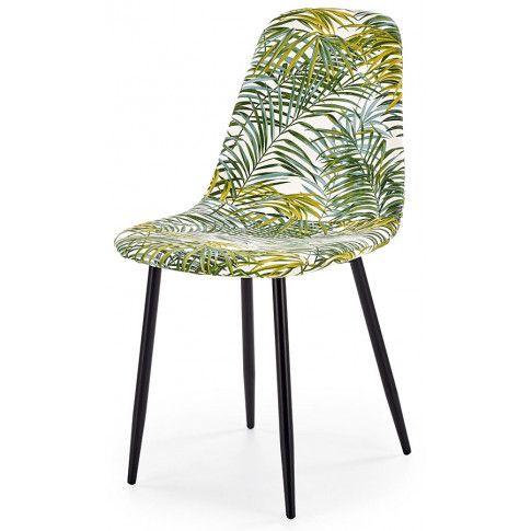 Zdjęcie produktu Krzesło z printem Marti - liście palmy.