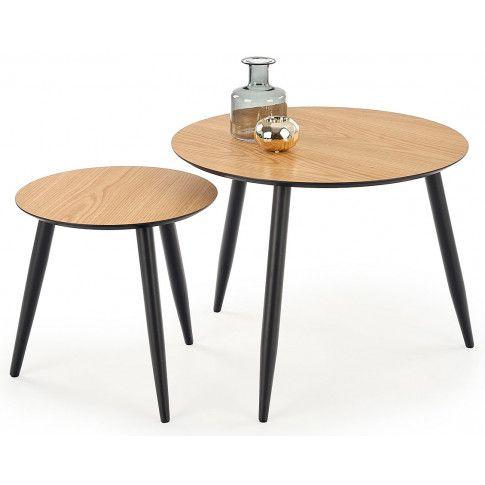 Zdjęcie produktu Zestaw dwóch stolików Nexti - dąb złoty.