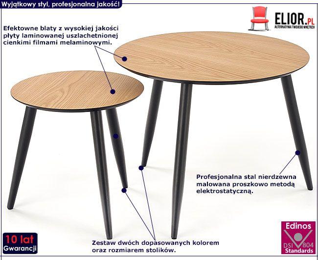 Zestaw dwóch stolików kawowych do salonu Nexti