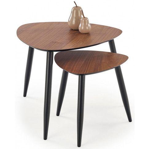 Zdjęcie produktu Zestaw dwóch stolików Sindi - orzech.