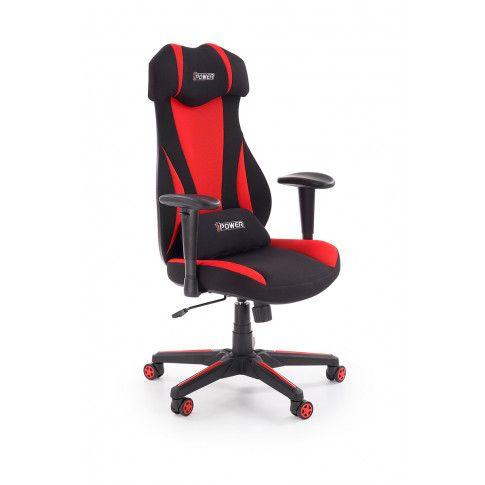 Zdjęcie produktu Fotel gabinetowy Galert - czarny  + czerwony.