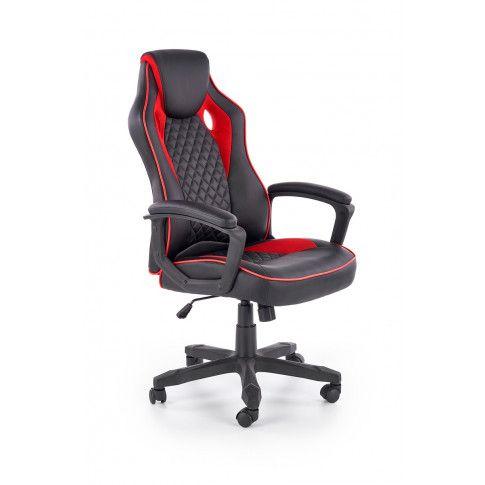 Zdjęcie produktu Fotel gabinetowy Deryl - czarny + czerwony.