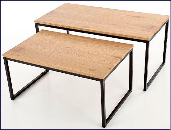 Dwie prostokątne ławy industrialne Noemi