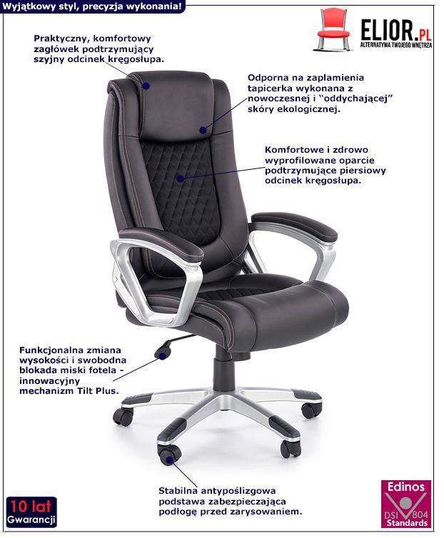 Komfortowy fotel gabinetowy Midel - czarny