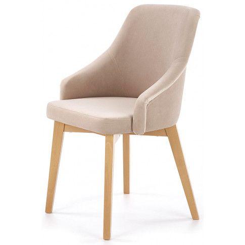 Zdjęcie produktu Krzesło drewniane Altex 2X - beż + dąb miodowy.
