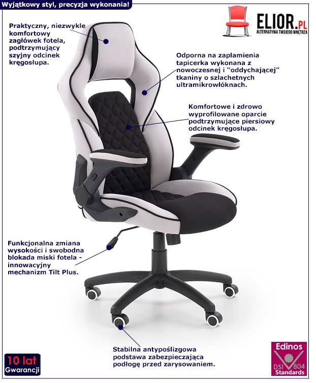 Komfortowy fotel gabinetowy Stavro - modny