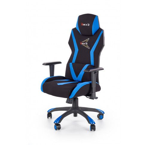 Zdjęcie produktu Fotel gamingowy Euron - czarny + niebieski.