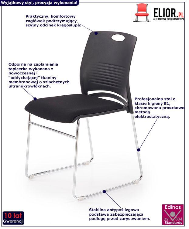 Wygodny fotel konferencyjny Memos - czarny