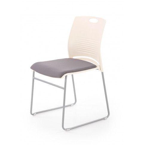 Zdjęcie produktu Fotel konferencyjny Memos - biały + szary.