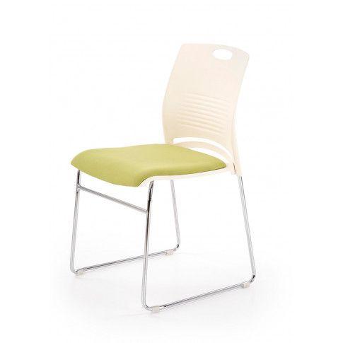 Zdjęcie produktu Fotel konferencyjny Memos - biały + zielony.
