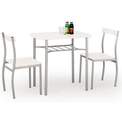 Zdjęcie produktu Stół z krzesłami Twiner - biały.