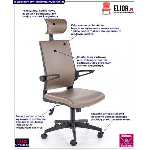 Fotografia Fotel obrotowy Roftel - popielaty z kategorii Fotele obrotowe