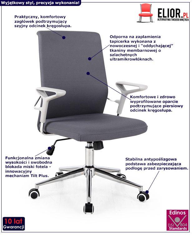 Minimalistyczny fotel Dubro - obrotowy