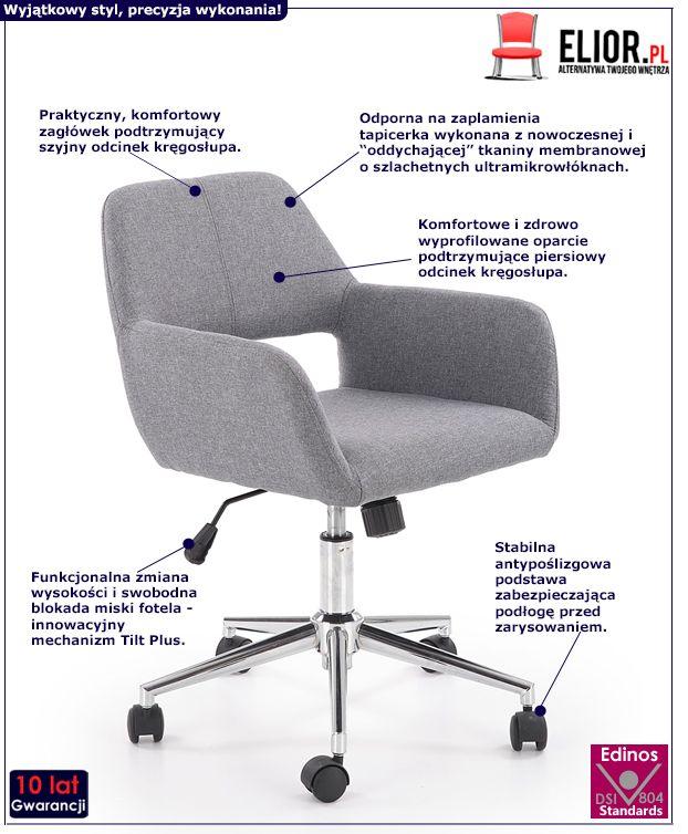 Stylowy fotel Sofaro - obrotowy