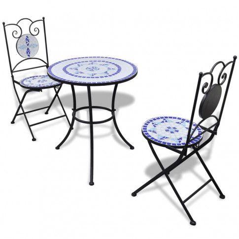 Zdjęcie produktu Zestaw mebli ogrodowych Karen - niebiesko-biały.