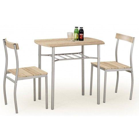 Zdjęcie produktu Stół z krzesłami Twiner - dąb sonoma.