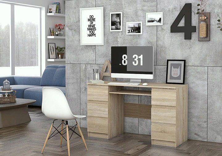 Młodzieżowe biurko pod komputer dąb sonoma Liner 2X